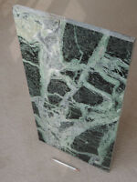 SLAB of GREEN MARBLE nearly 15 x 30 inches. No defects.