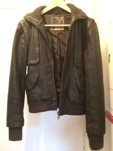 "Brown ""Foxy Jeans"" GENUINE LEATHER Jacket (Women's)"