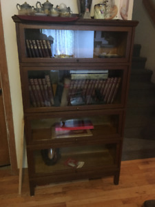 Antique Wooden Barrister Sectional Bookcase
