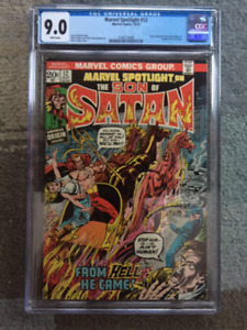 Marvel Spolight #12 CGC 9.0 White Pages Origin Son of Satan