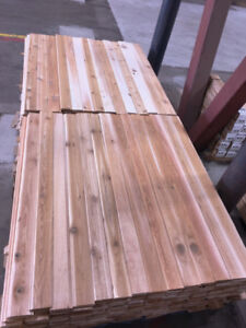 Western Red Cedar - 1x4, 2'-16' long STK  T&G