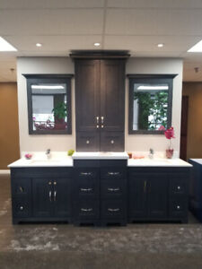 Solid  Wood Vanities W/ Quartz Top At Factory Direct Prices
