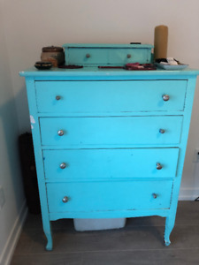 Free Turquoise dresser/chest of drawers