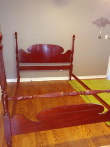 Canadian Made Solid Mahogany Queen Size Bedframe  & Rails
