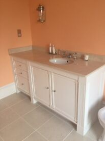 Marble work top with under mount sink