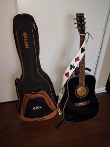MINT NORMAN GUITAR W/ BAG/STAND/LEATHER STRAP