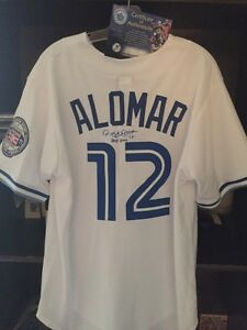 Signed authentic Roberto Alomar bluejays Jersey