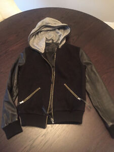 Roots Women's Melton Leather Jacket -Size 4 - New with Tags $250