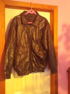 Genuine Black Leather Coat