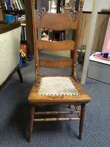 Antique kitchen chairs and plant stand Windsor Region Ontario image 2