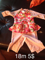 Baby boy clothes and girls swimsuit