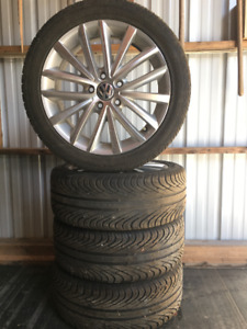 "4 General ""Altimax HP"" (91 H m/s) tires on VW ""OEM"" alloy wheels"