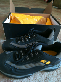 Caterpillar steel toe shoes. New