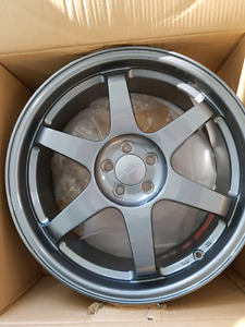 5x100 18x8 +35 offset wheels for sale!