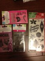 Various Clear Stamps, NEW! Christmas and more!
