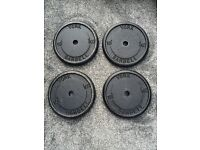40kg 4x10kg YORK BARBELL CAST IRON WEIGHT PLATES