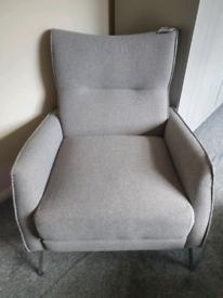 Single grey chair
