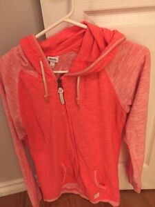 Bench bright pink zip up hoodie size large