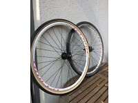 Used pair of wheels 700c with tyres and inner tubes
