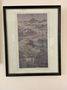 Framed Chinese painting - Dragon Boat Race