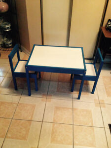 Table and 2 chairs for kids for sell $ 15