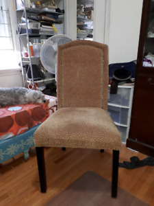 upholstered armless chair like new
