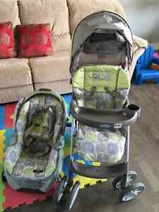 Baby stroller and baby car set