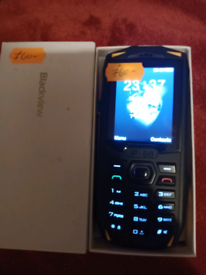 Back view shock proof work phone