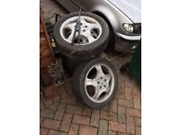 Set of 5 Mercedes a class alloy wheels £80 the set