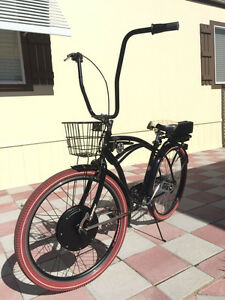 Custom Electric Bicycle FAST 1200w 48v Lithium Battery Beach