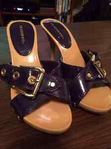 Purple and Tan Sandals -$10 - Size 6.5