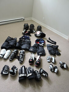 Miscellaneous hockey equipment for kids