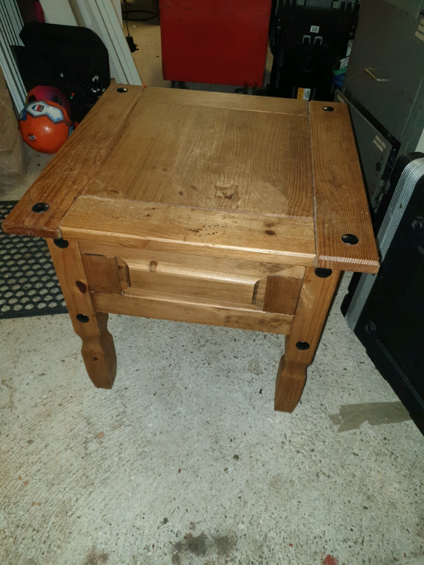 Peachy Mexican Pine Small Square Side Table In Beccles Suffolk Gumtree Machost Co Dining Chair Design Ideas Machostcouk