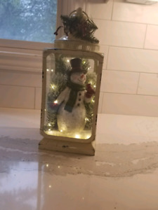 Winter / Christmas snowman decoration with lights