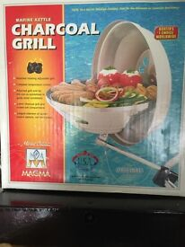 MAGMA MARINE CHARCOAL BBQ INCLUDING FIXING BAR - BRAND NEW