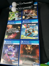 Playstation VR remotes and games
