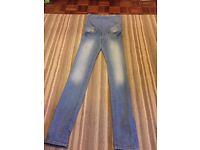 H&M maternity jeans, size 8