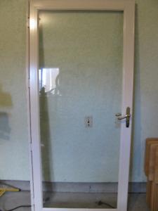Glass Door with screen insert