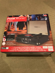 funkyfonic by dci vinyl record player classic turntable stereo