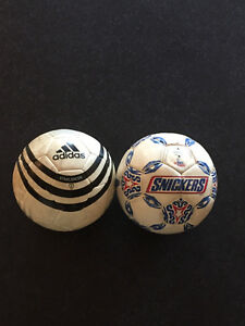 2 Used Soccer Balls Size 4