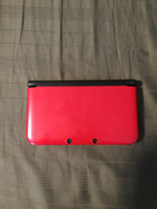*GOOD CONDITION* SHINY RED 3DS XL WITH GAMES: MARIO AND POKEMON