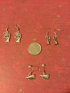 Music Theme Earrings - 3 Pairs Available