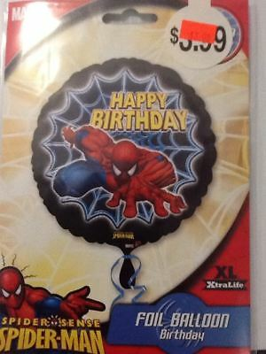 Spider man happy birthday balloon