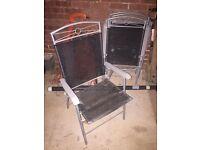 Set of 4 folding chairs