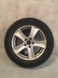 WINTER TIRES & MAGS 255 55 R18 with BMW X5 Orginal Mag