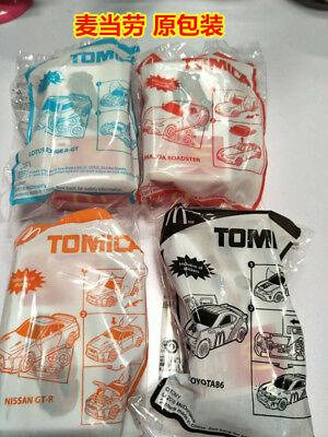 2018 TOMICA Mcdonalds Happy Meal Toys Complete 4 PCS NIP