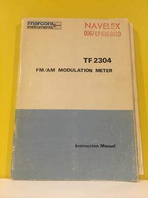 Marconi 46881-255t Fmam Modulation Meter Tf 2304 Instruction Manual