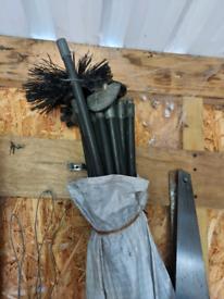 Drain rodding / chimney sweep kit
