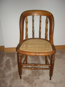 EARLY CANADIANA PINE CHAIRS
