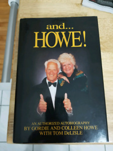 Gordie and Colleen Howe signed book